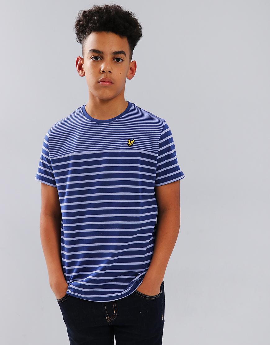 Lyle & Scott Junior Breton T-Shirt Twilight Blue