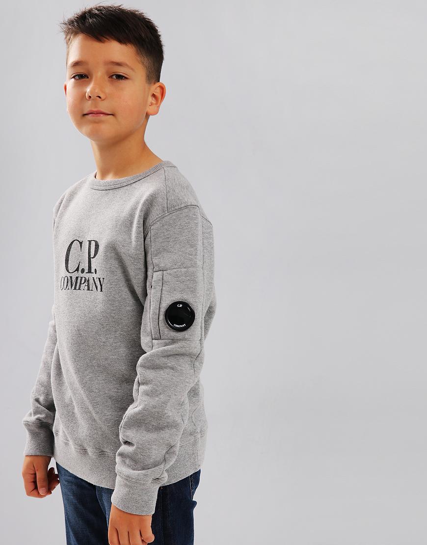 C.P. Company Kids Logo Lens Sweat Grey Melange
