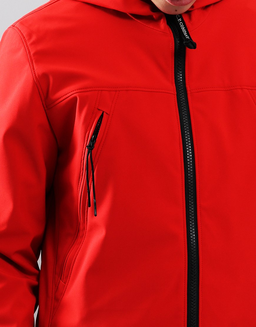 C.P. Company Kids Goggle Soft Shell Jacket High Risk Red