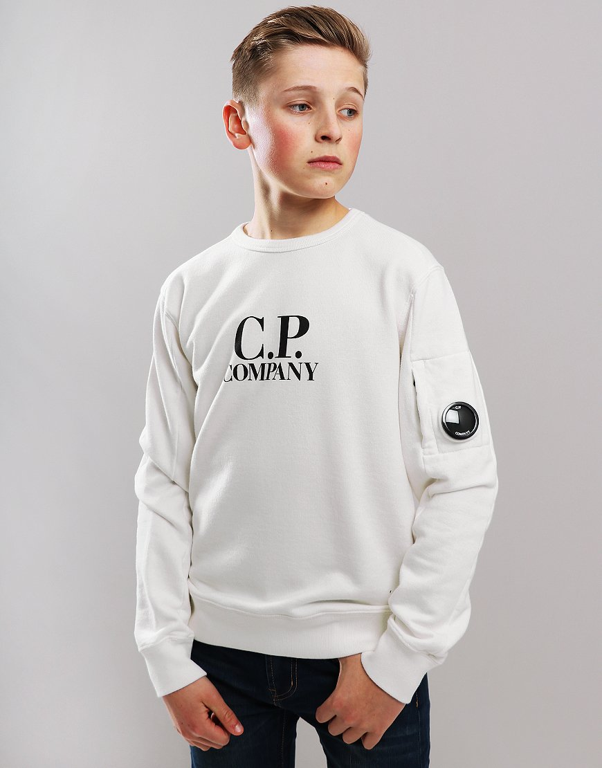 C.P. Company Kids Logo Lens Sweat Gauze White