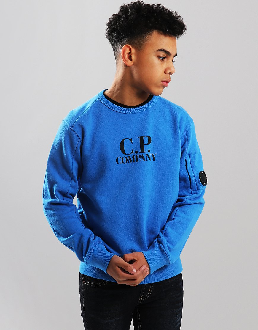 C.P. Company Kids Logo Lens Sweat Imperial Blue