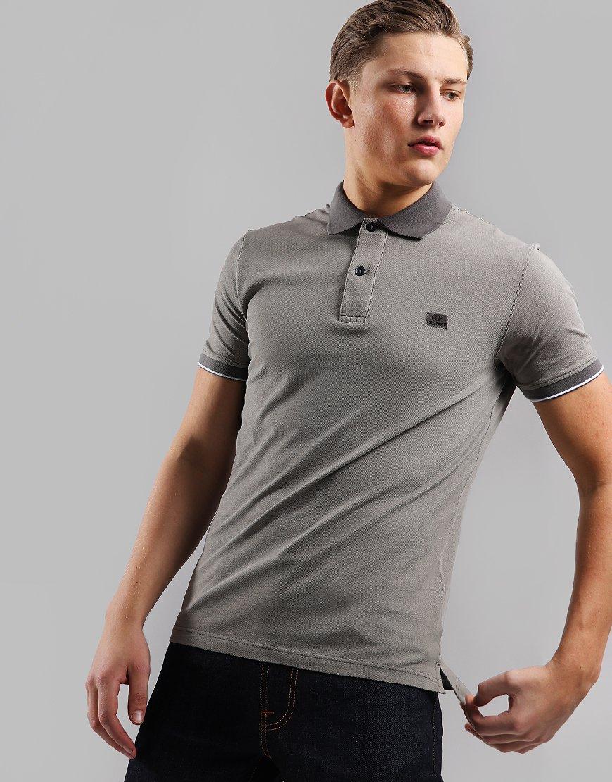 C.P. Company Tacting Polo Shirt Brindle Grey