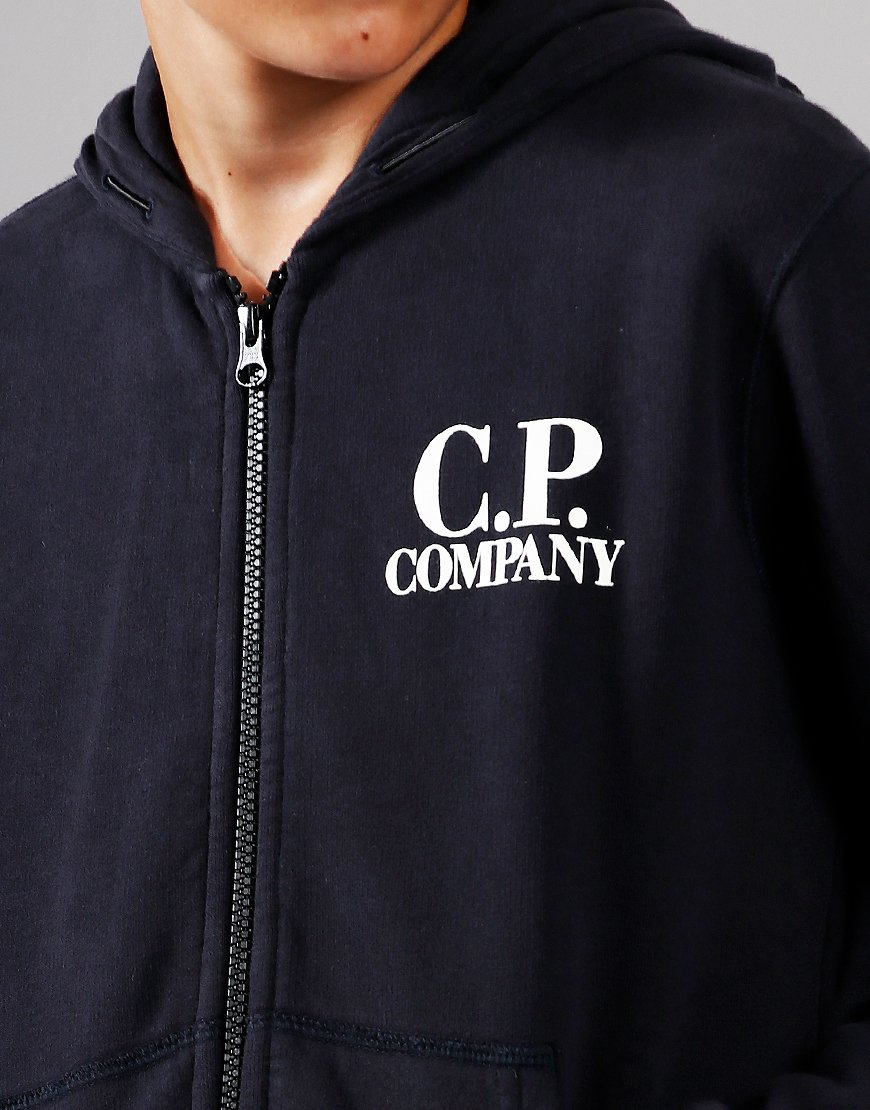 C.P. Company Kids Goggle Hooded Zip Sweat Total Eclipse