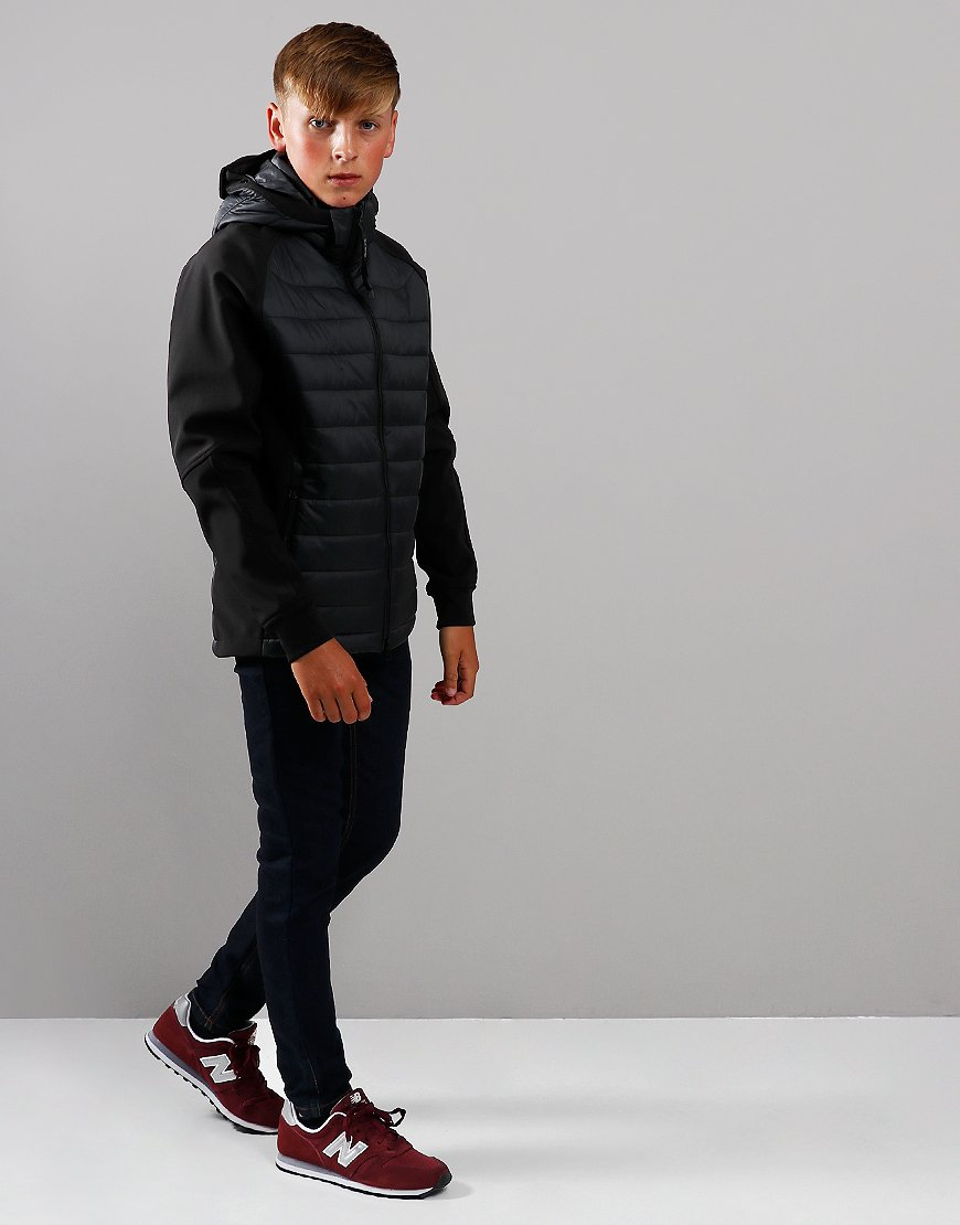 C.P. Company Kids Quilted Panel Goggle Jacket Black