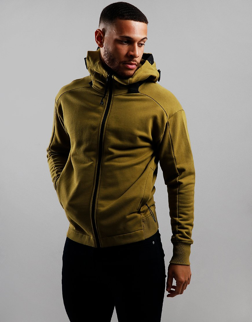 C.P. Company Belted Goggle Zip Hoodie Green Moss