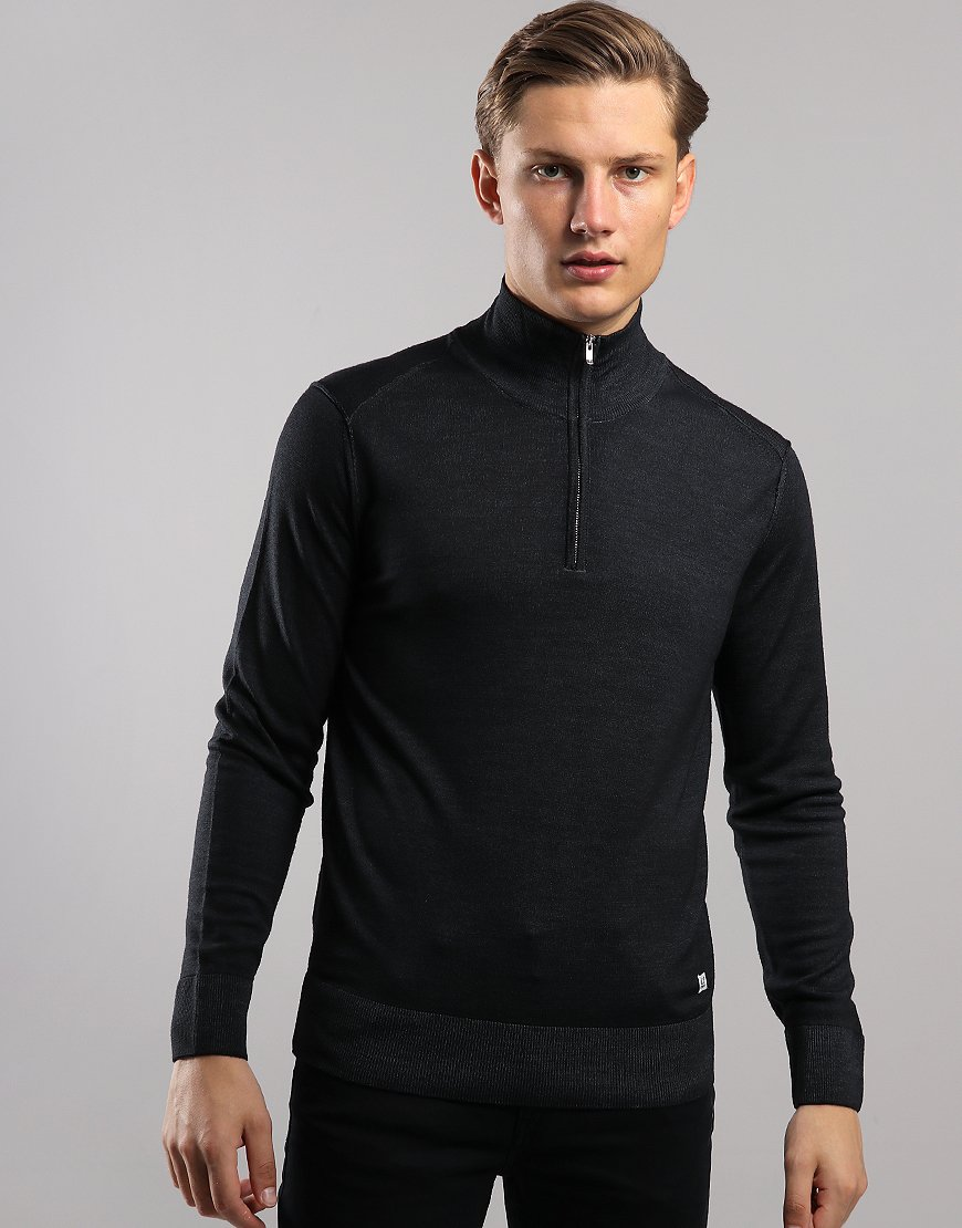 C.P. Company Funnel Neck Knit Black