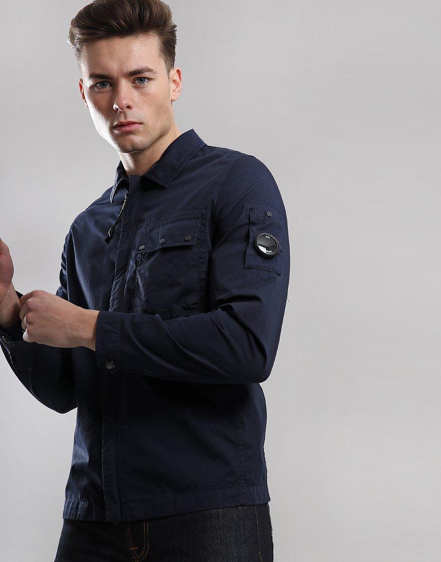 C.P.Company Gabardine Zip Overshirt Total Eclipse
