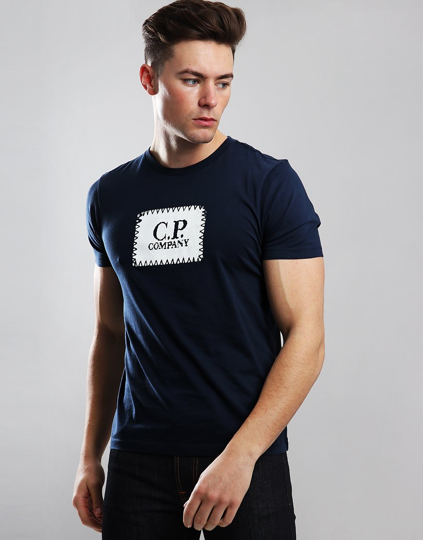 C.P. Company Patch Logo T-Shirt Total Eclipse