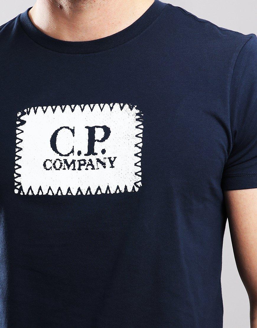 C P Company Patch Logo T Shirt Total Eclipse Terraces Menswear