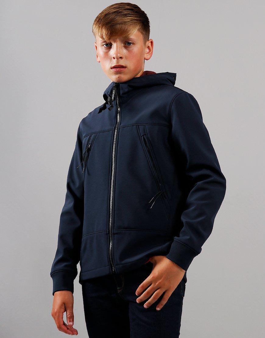 C.P. Company Kids Goggle Soft Shell Jacket Total Eclipse