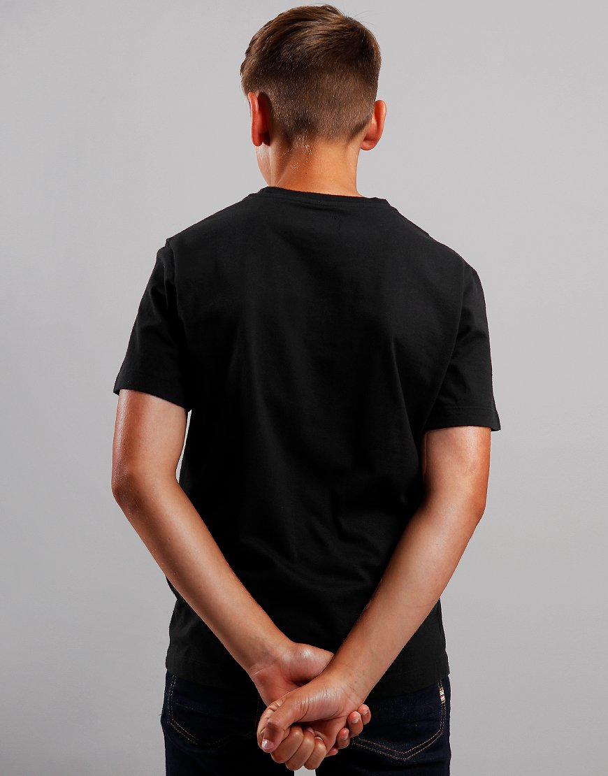 C.P. Company Kids Label Print T-Shirt Black