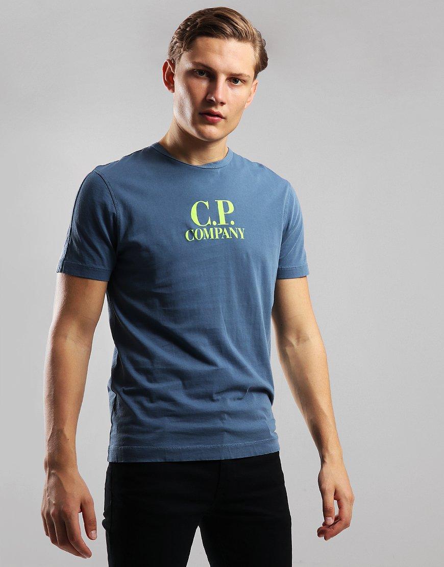 C.P. Company Logo Print T-Shirt Dark Denim