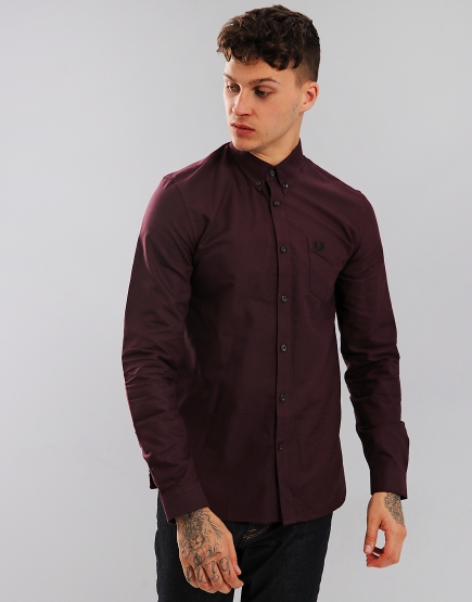 Fred Perry Classic Oxford Shirt Mahogany