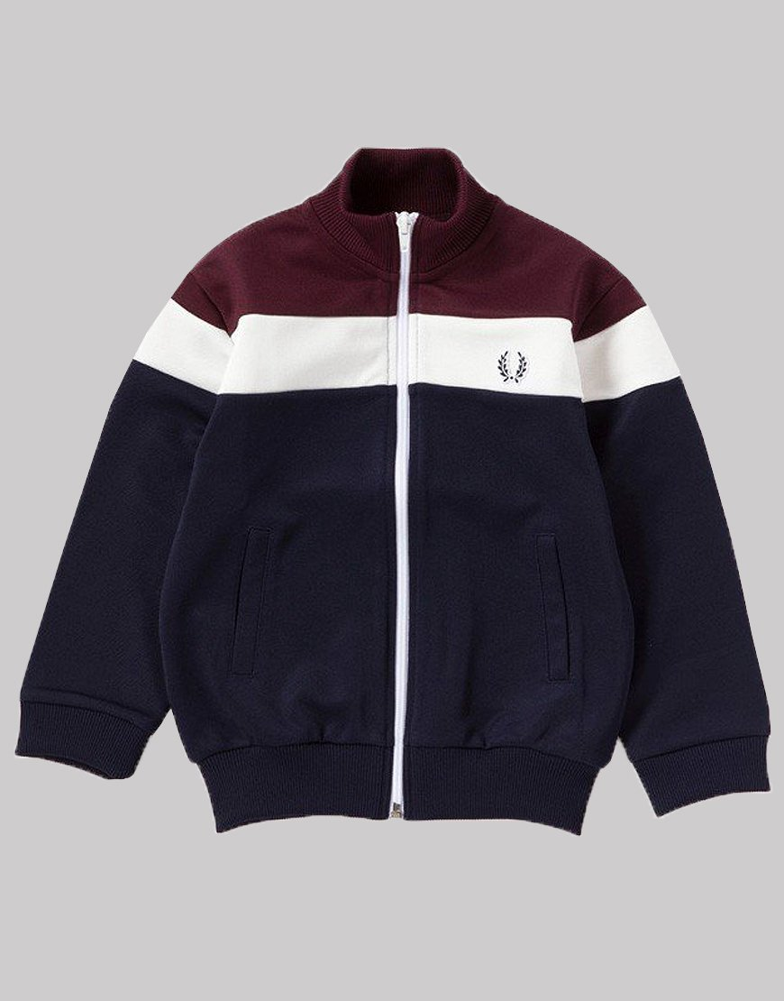 Fred Perry Kids Colour Block Track Carbon Blue