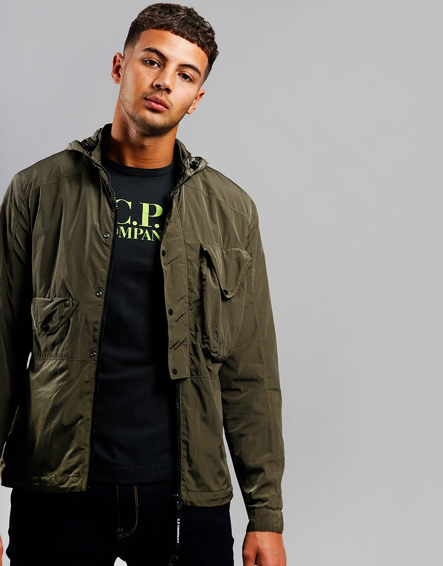 C.P. Company Chrome Hooded Overshirt Dusty Olive