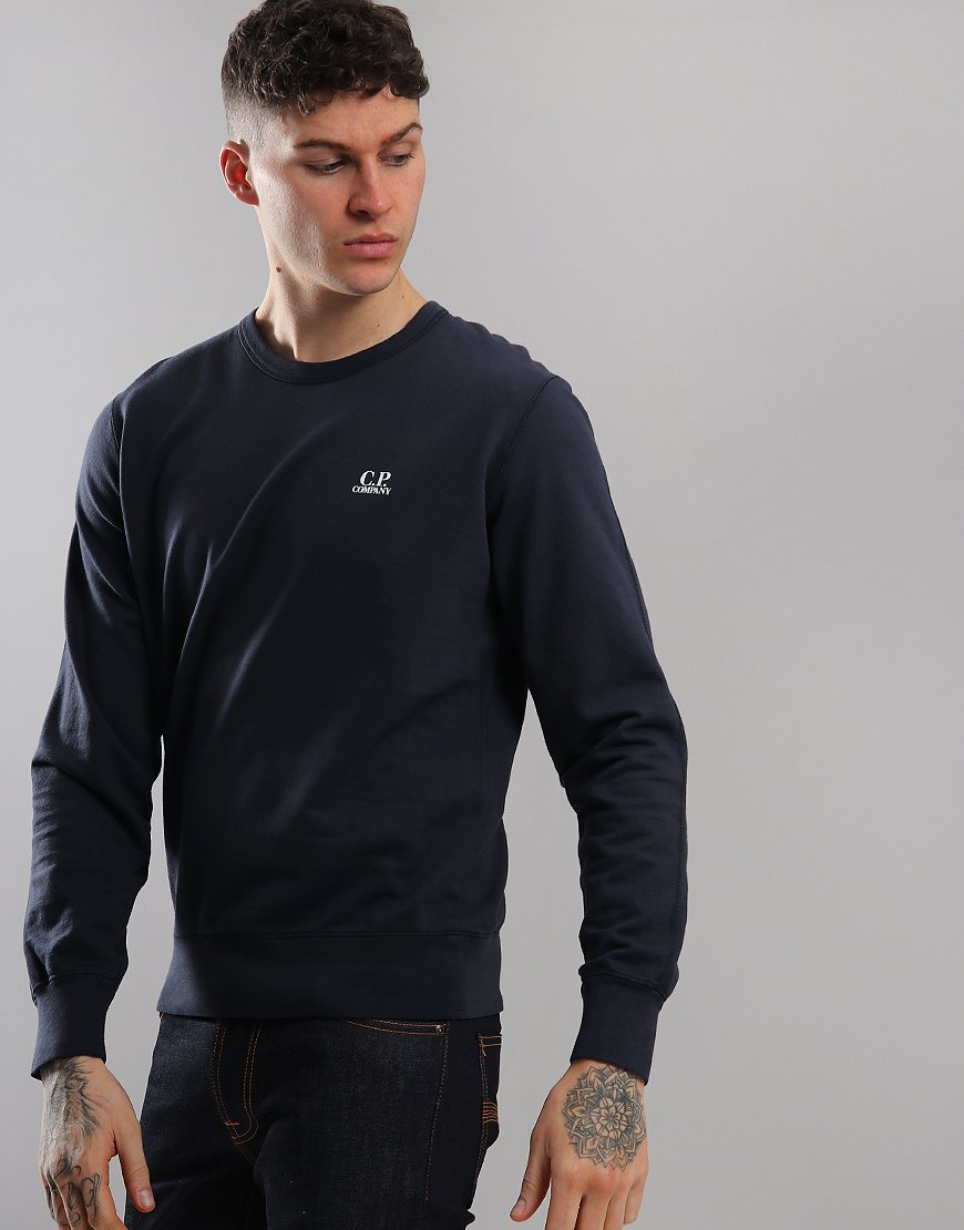 C.P. Company Lightweight Crew Sweat Total Eclipse