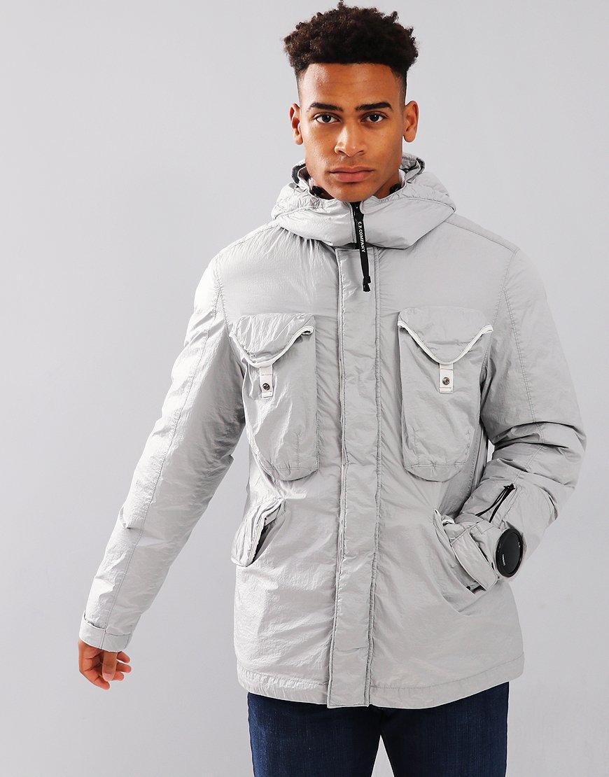 C.P. Company Down Nyfoil Goggle Jacket Gauze White