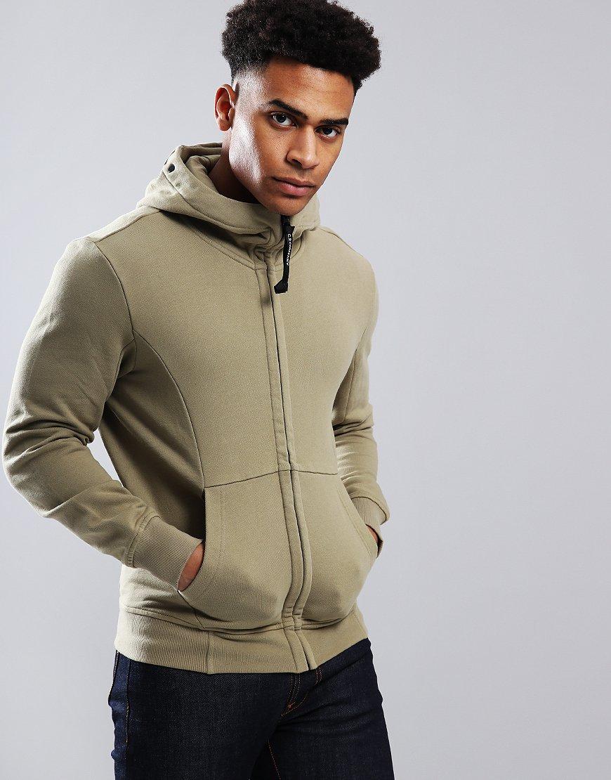 C.P. Company Diagonal Fleece Goggle Sweatshirt Kelp