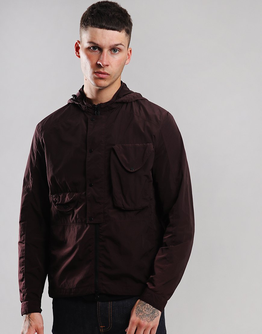 C.P. Company Chrome Hooded Overshirt Bitter Chocolate