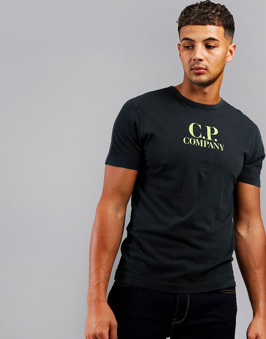 C.P. Company Logo Print T-Shirt Dusty Black