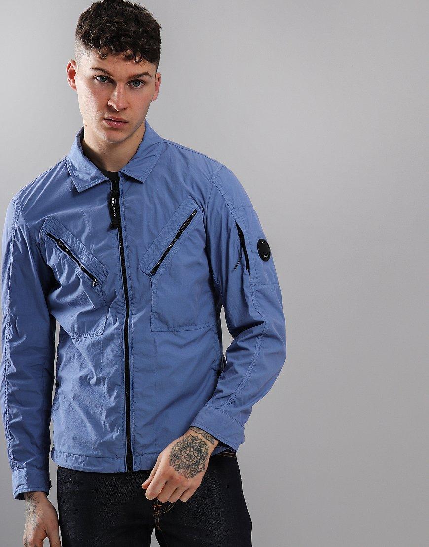 C.P. Company Chrome Utility Zip Overshirt Dutch Blue