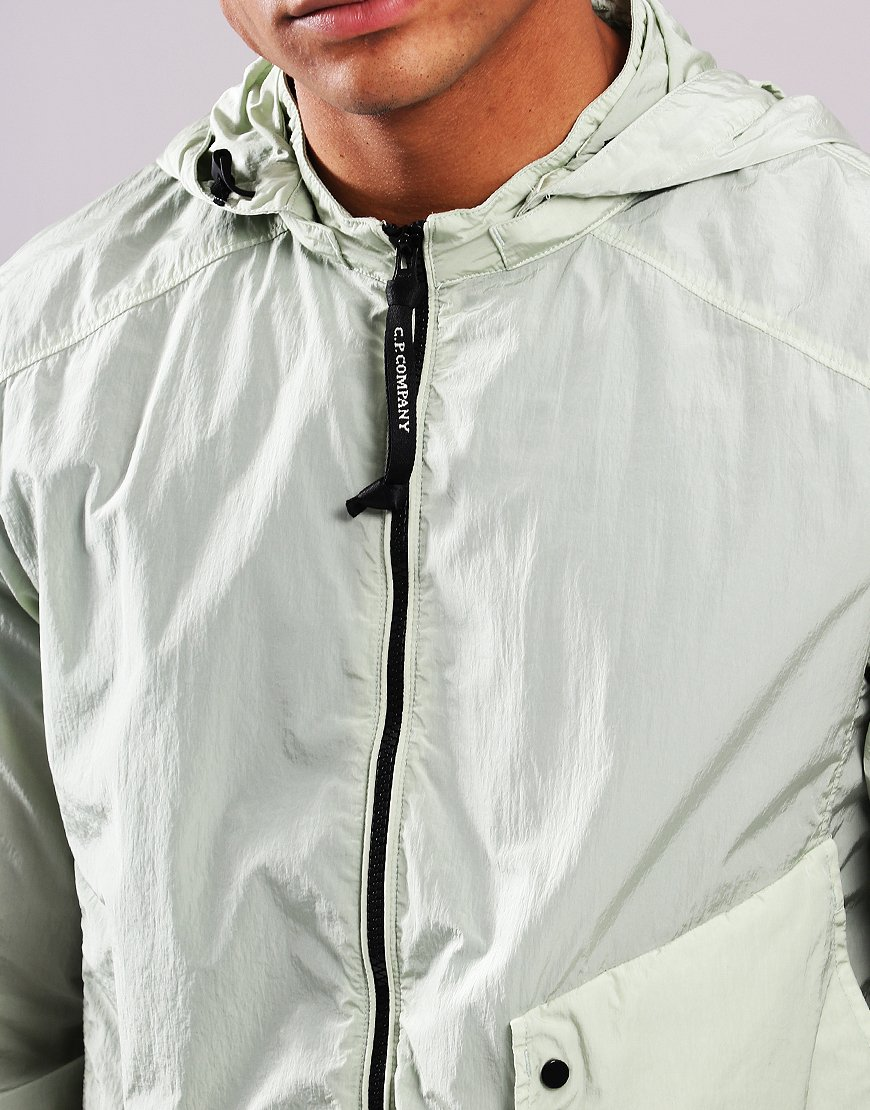 C.P. Company Chrome Goggle Hooded Shirt Jacket Tea