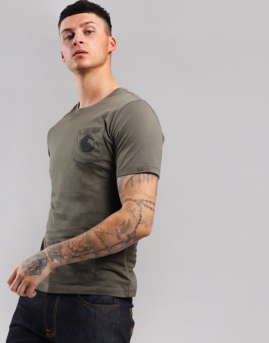 C.P. Company Lens Pocket T-Shirt Dusty Olive