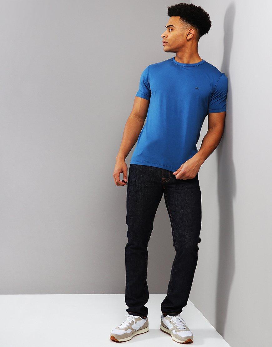 C.P. Company Mako Cotton T-shirt Moroccan Blue