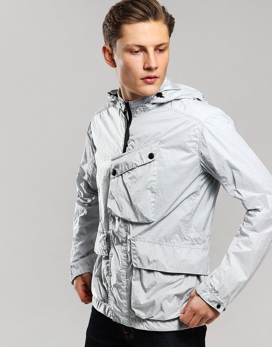 C.P. Company Front Pocket Goggle Jacket Gauze White
