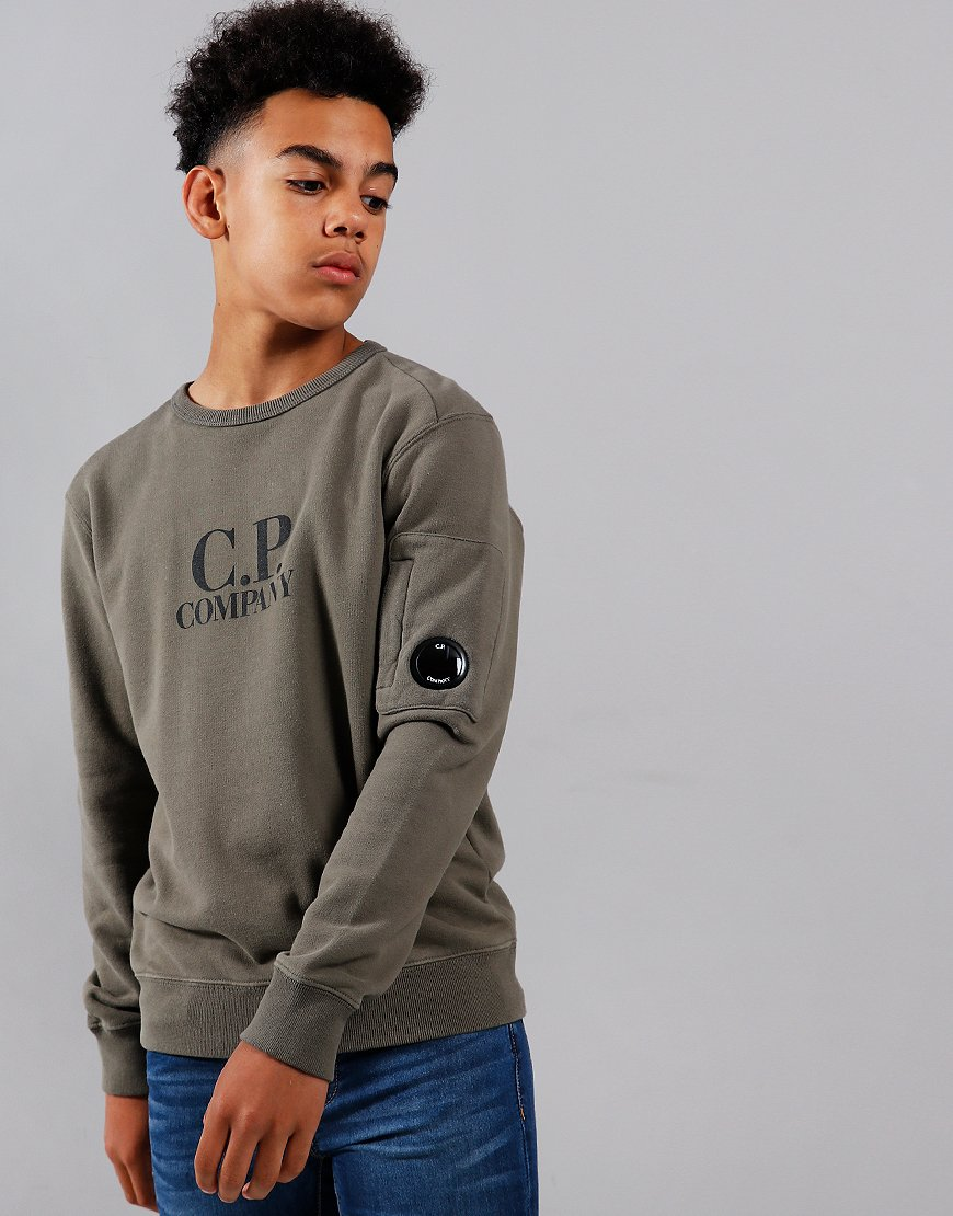 C.P. Company Kids Logo Lens Sweat Dusty Olive