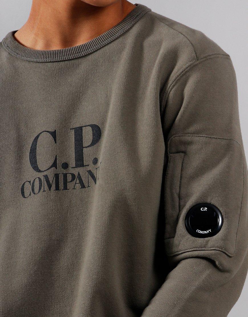 C.P. Company Kids Logo Lens Sweat Dusty Olive