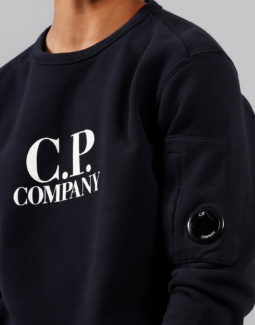 C.P. Company Kids Logo Lens Sweat Total Eclipse