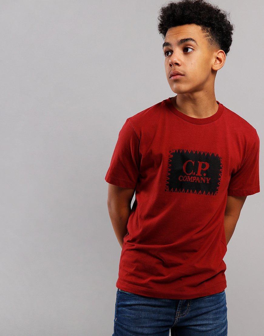 C.P. Company Kids Label Print T-Shirt Scooter
