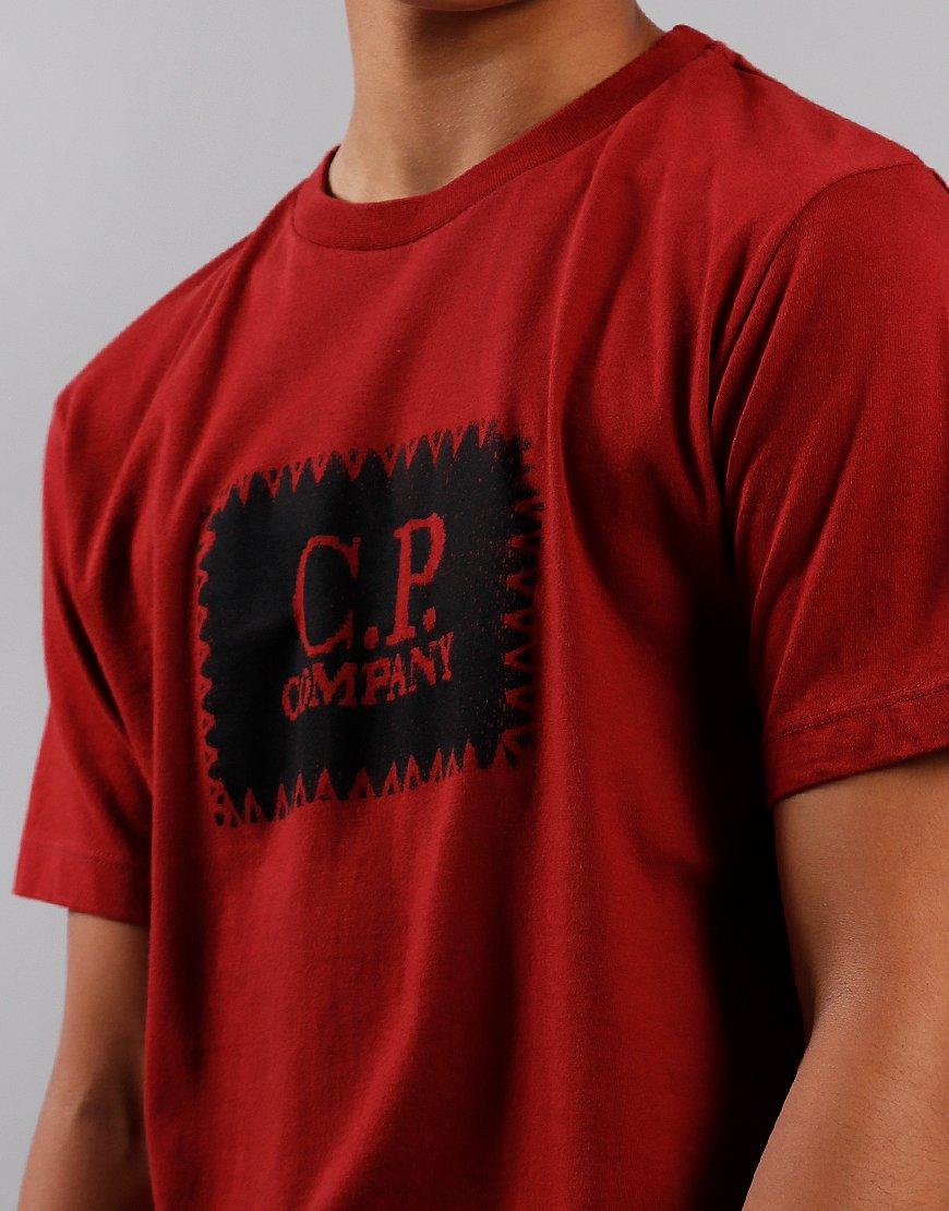 C.P. Company Kids Label Print T-Shirt Scooter