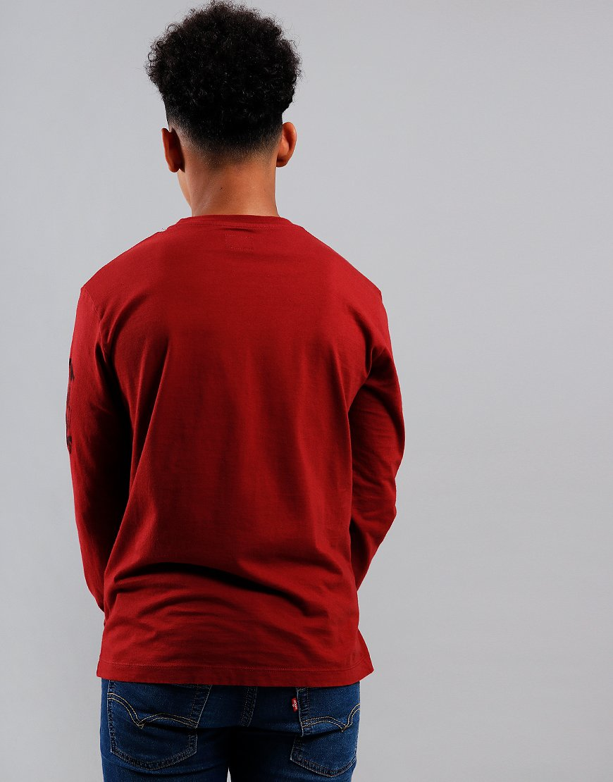 C.P. Company Kids Logo Print Long Sleeve T-Shirt Scooter
