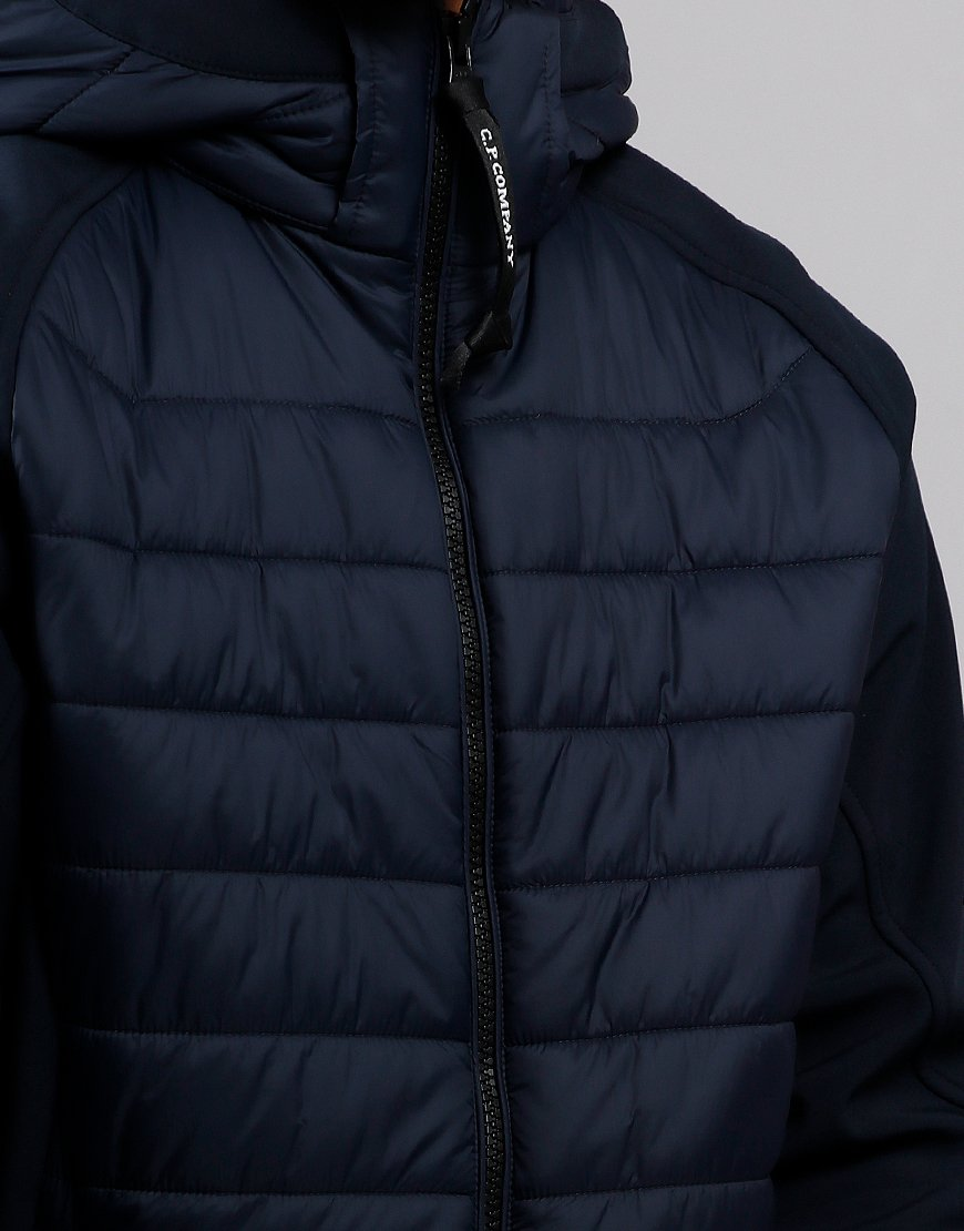 C.P. Company Kids Quilted Panel Goggle Jacket Total Eclipse