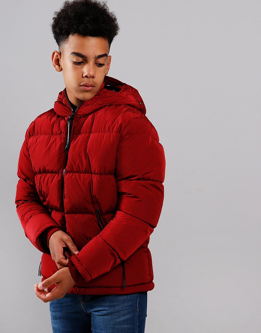 C.P. Company Kids Wadded Goggle Puffer Jacket Scooter