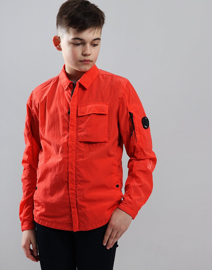 C.P. Company Kids Lens Pocket Jacket High Risk Red
