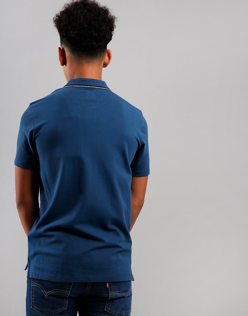 C.P. Company Kids Tipped Polo Shirt Dark Denim