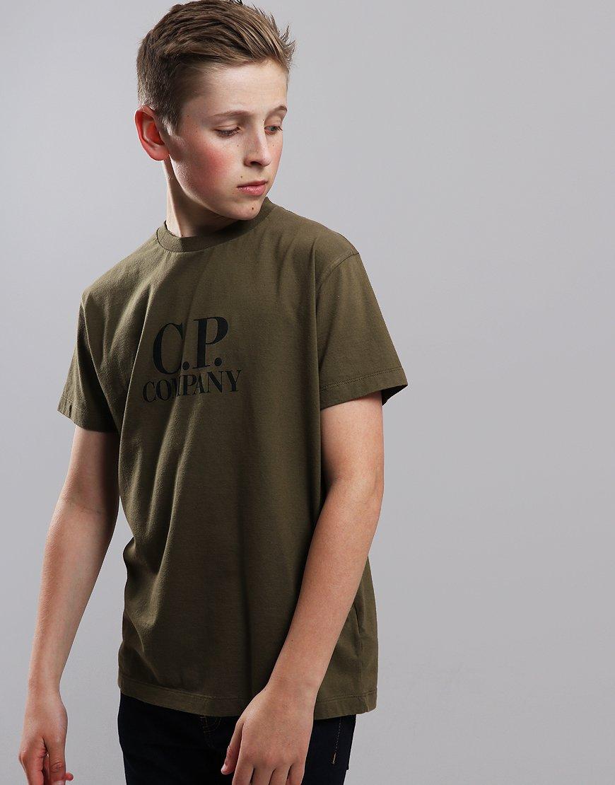 C.P. Company Kids Jersey Hood Print T-Shirt Beech