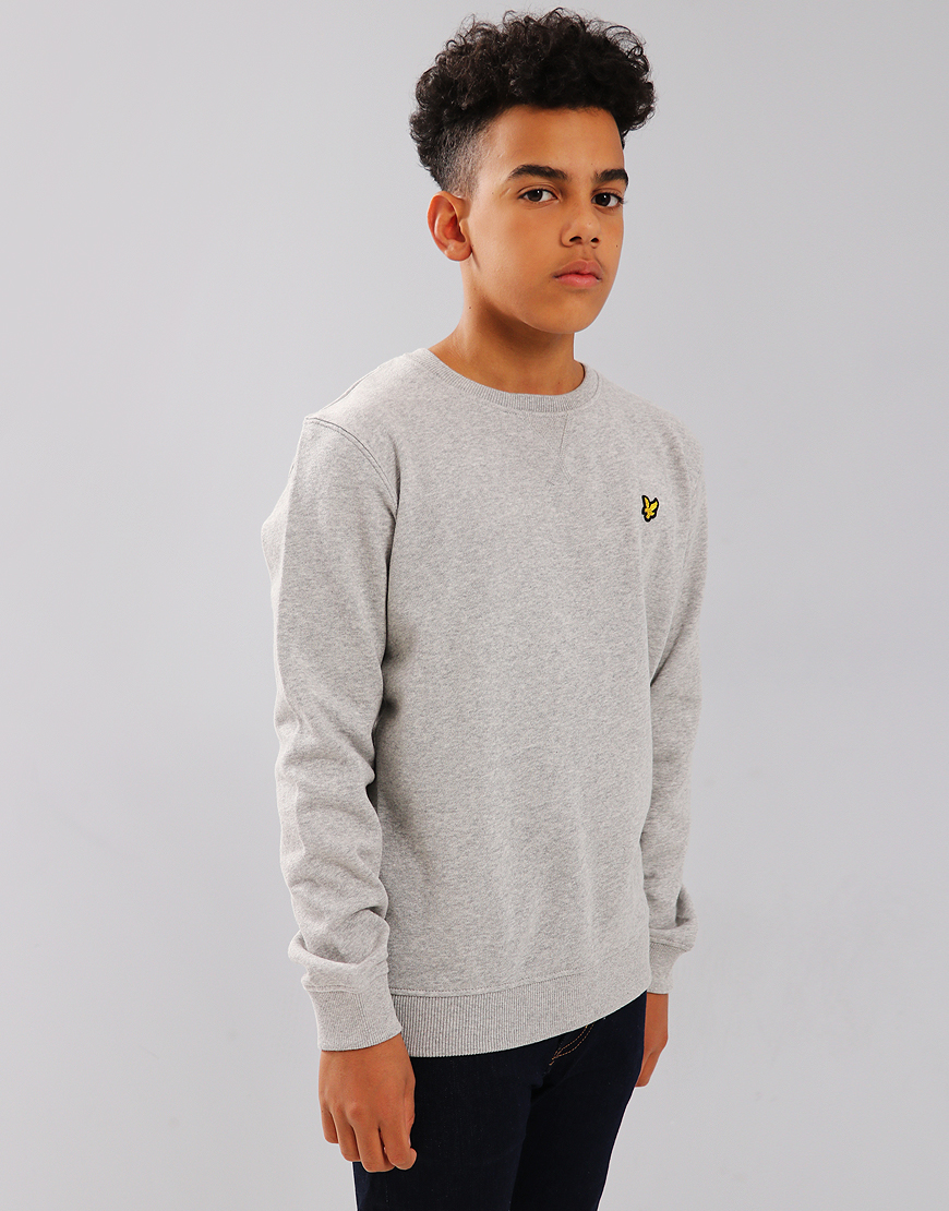 Lyle & Scott Junior Crew Neck Sweat Vintage Grey Heather