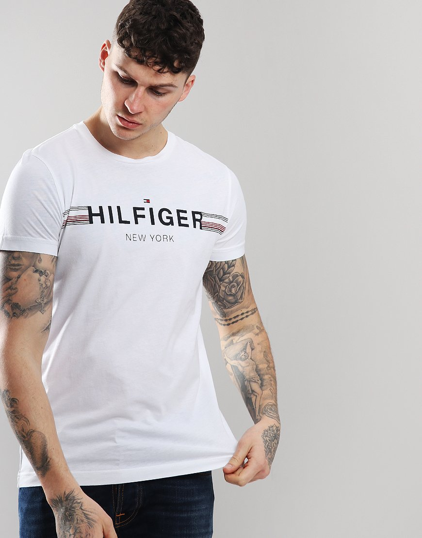 Tommy Hilfiger Corp Flag T-shirt Bright White