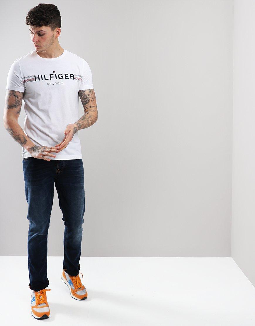 4ca3e1795db0c Tommy Hilfiger Corp Flag T-shirt Bright White - Terraces Menswear