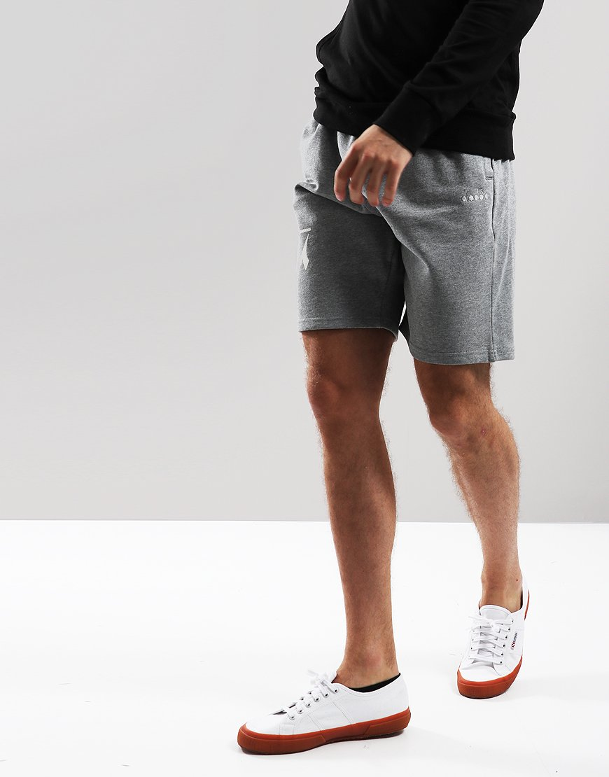 Diadora Bermuda Jog Shorts Light Grey Melange