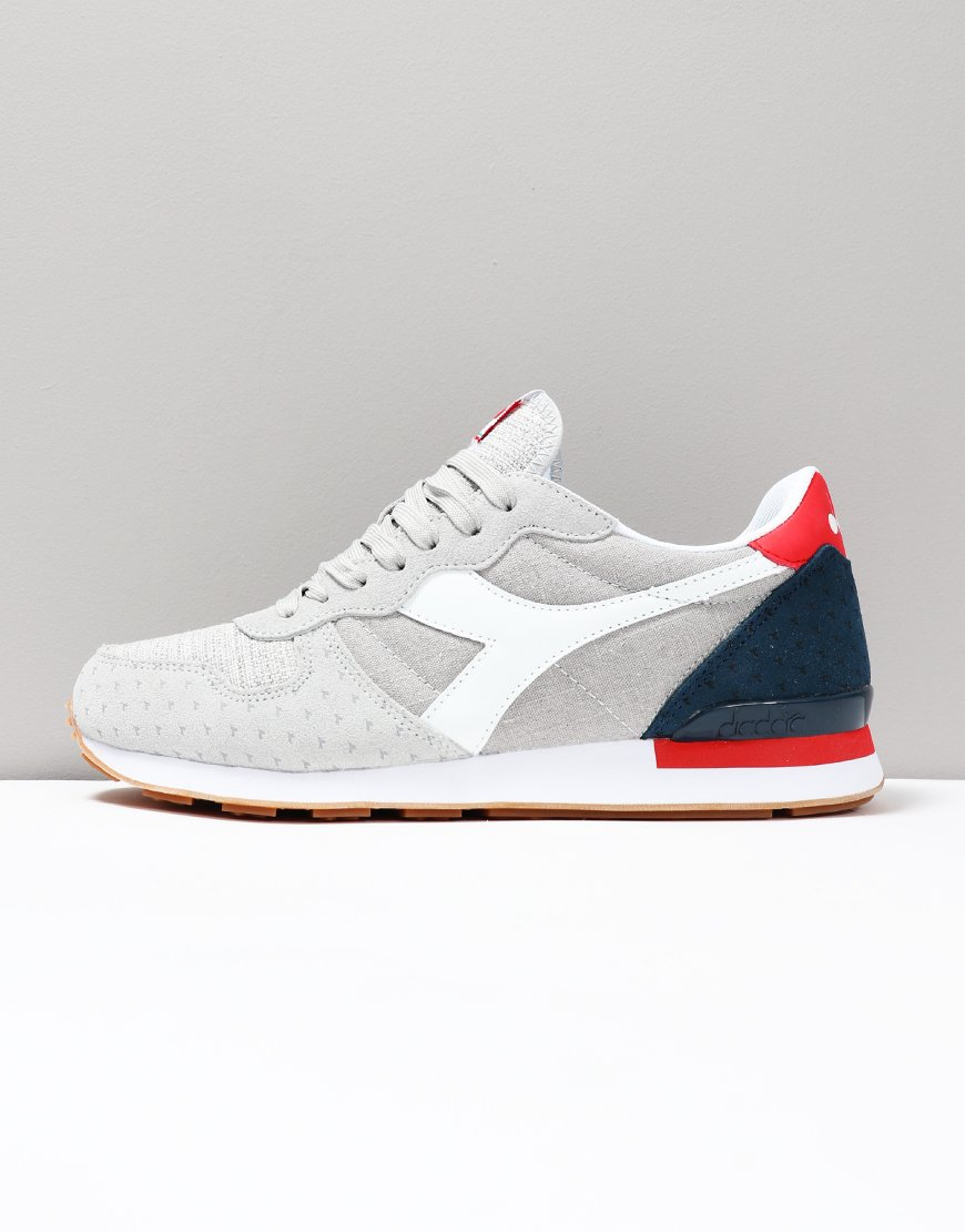 Diadora Camaro Summer Trainers White/Dark Blue Denim