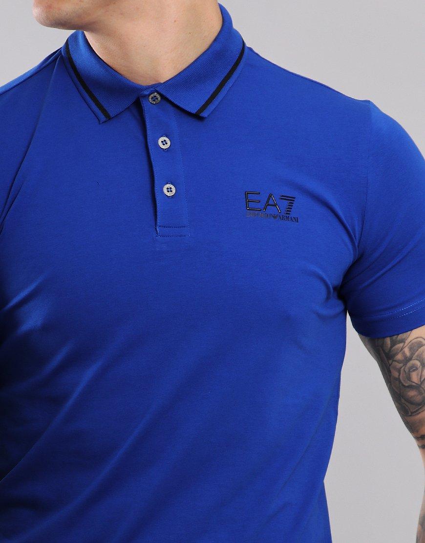 89153a99 EA7 Tipped Collar Polo Shirt Surf - Terraces Menswear