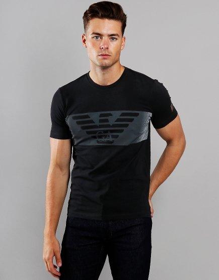 EA7 Block Logo T-Shirt Black
