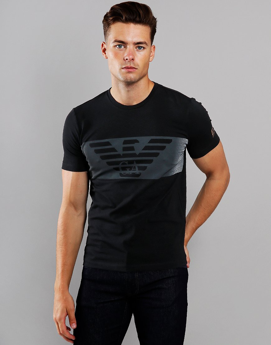 EA7 Block Logo T-Shirt Black