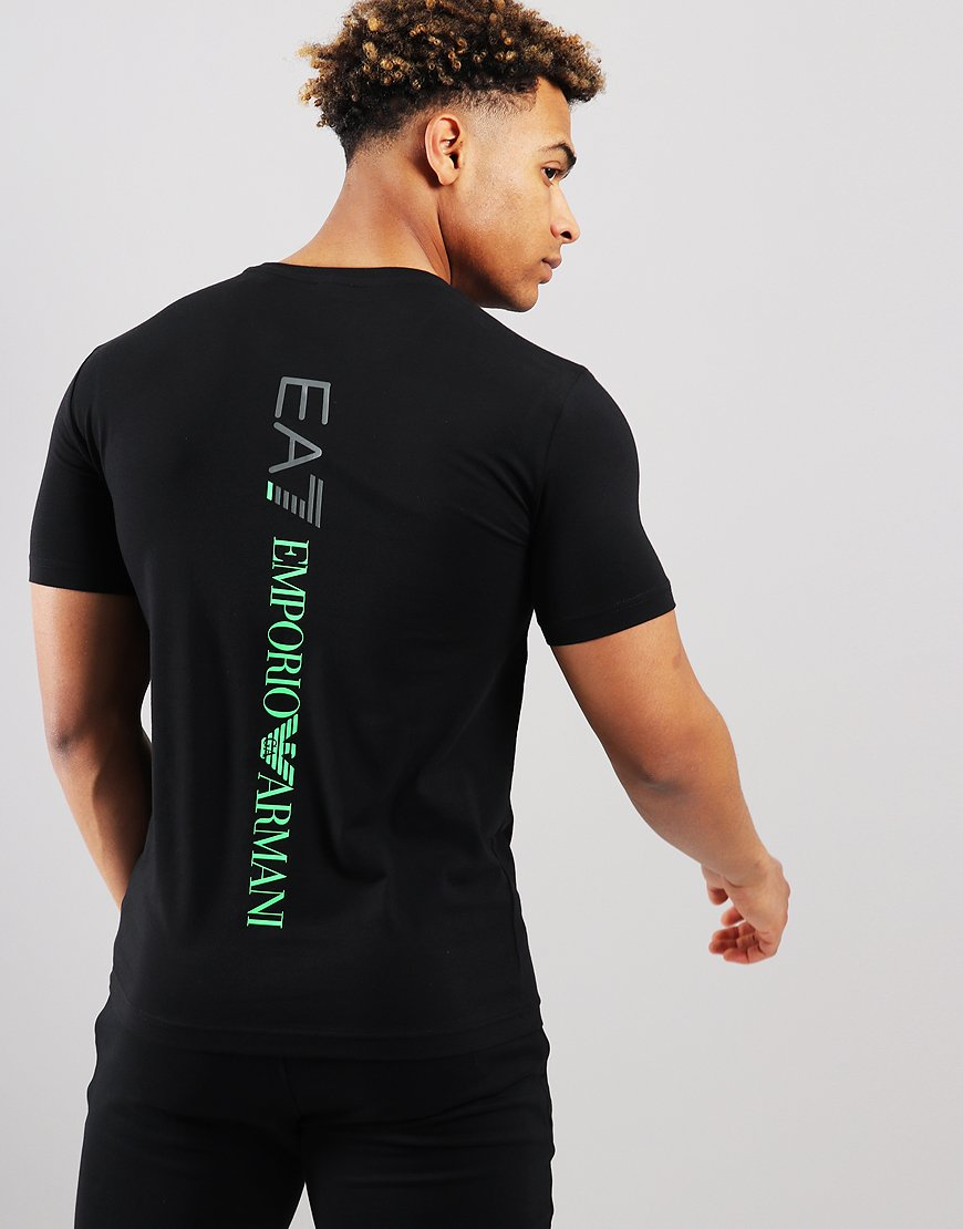 473a99b2c EA7 Front + Back Logo T-shirt Black - Terraces Menswear