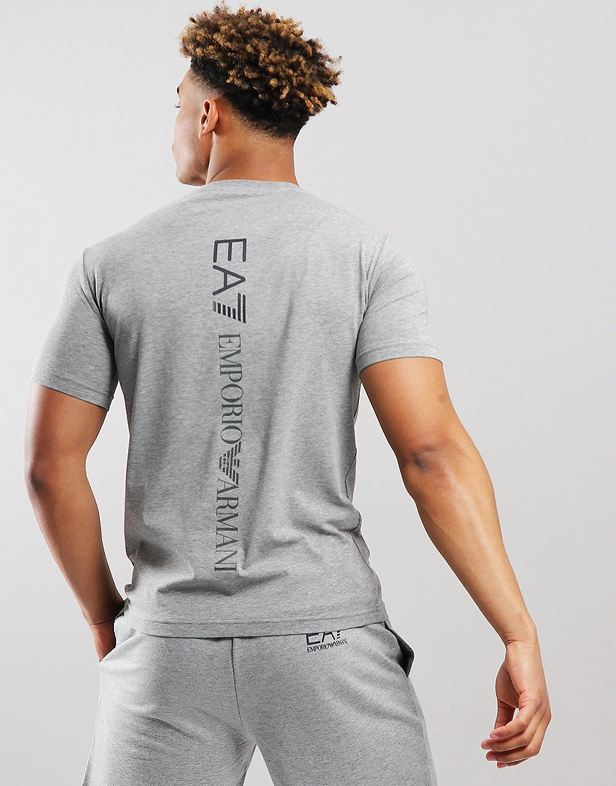 EA7 Front + Back Logo T-shirt Medium Grey Marl